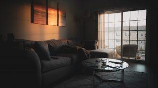 Dim light apartment during sundown